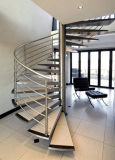 Escalera espiral del acero inoxidable en diseño modificado para requisitos particulares moderno