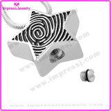 Halsketten, die Asche anhalten, Star Anhänger mit Fingerabdruck Ijd9728