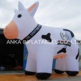 Modèle debout gonflable de vache à lait de dessin animé de modèle neuf