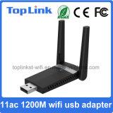 переходника WiFi Dongle/WiFi радиотелеграфа USB 2.4G/5.8g 3.0 11AC 2t2r 1200Mbps высокоскоростной с внешней антенной 2