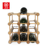 12びんDIYの記憶の棚のための木のワインの陳列だな