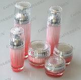 化粧品の包装のための新しい到着の水晶ピンクシリーズアクリルのBottle&Jar (PPC-CPS-078)