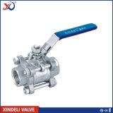 Válvula de esfera inoxidável do interruptor da fábrica de aço 3PC do RUÍDO 3202/4-M3