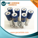 De Pijp van het Carbide van het wolfram met het Blauwe RubberJasje van de Koker en van het Aluminium