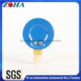 Venda quente dos manómetros de aço azuis do oxigênio do caso