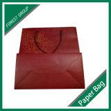 Papier enroulé laminé mat Bouteille de vin Shopping Sac cadeau