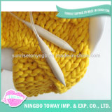 Coperta di DIY che lavora a maglia il filato di lana merino robusto eccellente