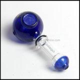 Azzurro forato di vetro del tubo della mano del cucchiaio di Lladelph multi