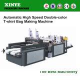 Automatischer Hochgeschwindigkeitsc$doppelt-farbe DFR-400*2 Shirt-Beutel, der Maschine herstellt