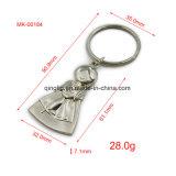 Trousseaux de clés de forme de crabot en métal de fille de robe de mariage pour des cadeaux de mariage, boucle principale, trousseau de clés fait sur commande