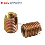Поставщика сбывания Китая изготовление продетой нитку вставки Ensat цинка горячего стальное