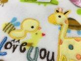 Couverture de corail de bébé d'ouatine d'Embroideried