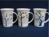 Populäre Großhandelskaffeetasse des Drucken-12oz, keramischer Becher mit Entwurf des Abnehmers