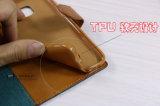 iPhoneおよびSamsungのための工場価格フリップデニムの札入れの携帯電話カバー薬莢