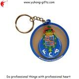 Porte-clés en PVC rond Ec-Friendly en caoutchouc (YH-KC070)