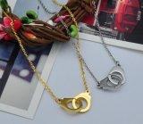 De creatieve Handcuffs van het Roestvrij staal Halsband van de Laag van Juwelen Enige voor Vrouwen