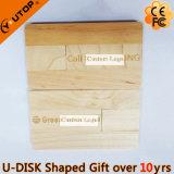 Carte pivotante en bois USB Flash Drive en cadeau meuble (YT-3132)