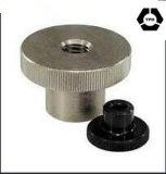 Noix moletées de pouce d'acier du carbone DIN466 avec le collier