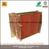 Condensatore raffreddato aria dell'aletta del rame del tubo di rame