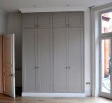 Bester Preis befestigte hoher Glanz-graue Schiebetür-Garderobe