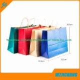 Bolso de papel de lujo llano del regalo de la Navidad del bolso del regalo de la bolsa de papel de Kraft para la Navidad