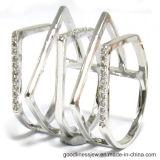 Manier 925 Zilveren Ringen met de Onregelmatige AMERIKAANSE CLUB VAN AUTOMOBILISTEN CZ van de Vorm (R10600)
