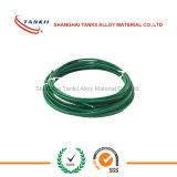 Grüner weißer Thermoelementextensions-Kabeltyp K 2*0.2mm isolierte durch Kurbelgehäuse-Belüftung