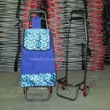 Bagage en métal pliable en métal pliable Supermarket Shopping Trolley Basket Panier