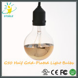 Metade de lâmpada Incandescent Glod-Chapeada de Stoele G50 7W