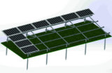 Parentesi solari a terra dell'acciaio inossidabile della base del mucchio della vite