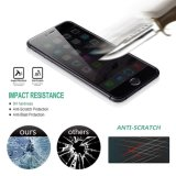 Premium HD 2.5D borde de la curva 0.3mm 9h Anti-Spy Anti-Scratch Anti-Huella digital de cristal templado protector de pantalla para iPhone 7