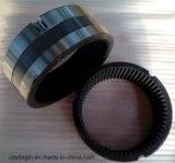 ギヤ外部か内部ギヤ螺旋形ギヤおよびギヤリングが付いているリングによって製造される造られた鋼鉄ギヤリング内部ギヤリングの回転のリングベアリング