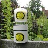 Mini Jardín Perfumado 100% cera de soja Cubo de vela de cristal con la caja