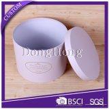 Caixa de papel redonda elegante impressa fábrica do cilindro do presente de Dongguan