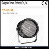 단계 72pcsx3w RGBW 옥외 방수 LED 벽 세척 동위 빛