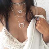 熱い多層チェーンネックレスの鎖のふさのペンダントのネックレス