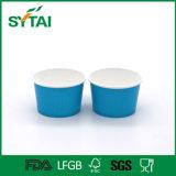 Kundenspezifisches Drucken-Wegwerfeiscreme-Papiercup mit Kappen