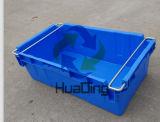 720X430X240 자동차 부속 저장과 배급 Nestable 취급된 플라스틱 상자
