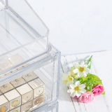 Tipo cosmetico acrilico trasparente casella del cassetto di modo di memoria