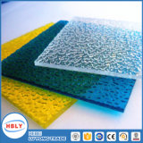 El panel sólido de bloqueo Bendable plástico teñido ignífugo del policarbonato del material para techos