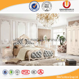 Стандартная твиновская кровать мебели спальни неподдельной кожи размера (UL-FT616B)