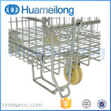 Galvanisiert, faltbaren Stahlhaustier-Vorformling-Behälter stapelnd