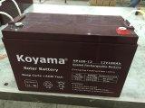 Bateria de armazenamento 12V100ah da potência solar