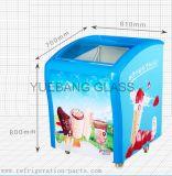 Mini porta do vidro do congelador do gelado
