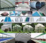 Vertiente sólida de la cría de la hoja del policarbonato claro e invernadero agrícola