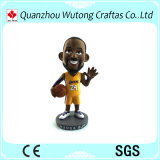 La figura caliente del jugador de básquet de la resina de la venta Bobble la resina principal Kobe Bobble la pista