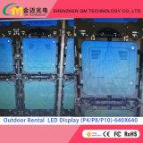 Indicador de diodo emissor de luz ao ar livre P3.91/P4.81/P5.95/P6.25/P8/P10 do arrendamento do preço de grosso, USD580