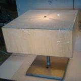 Lampe de table de nuit de grand dos d'ombre de tissu de salle de séjour