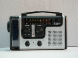 セリウムApproved Emergency Solar Handcrank Dynamo Am/FM/Noaa Weather Radio、Flashlight、MobileのためのReading