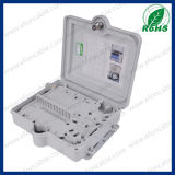 FTTH를 위한 플라스틱 Material 12 Core Outdoor Fiber Optic Distribution Box